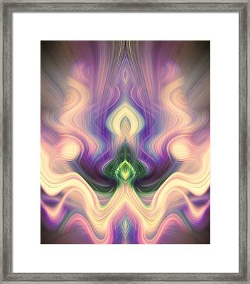Petition In Pink And Purple Framed Print by Linda Phelps