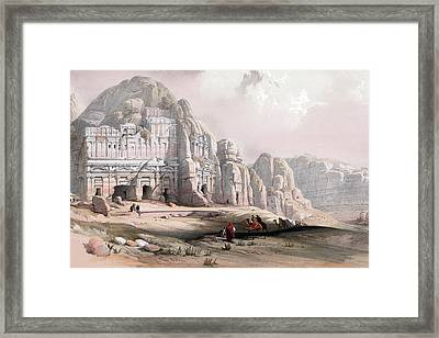 Petra  Framed Print by Munir Alawi