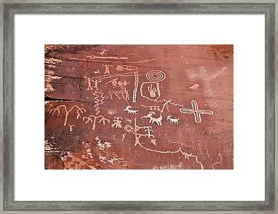Petroglyph Canyon - Valley Of Fire Framed Print by Christine Till