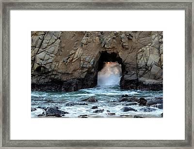 Pfeiffer Rock Big Sur 2 Framed Print by Bob Christopher