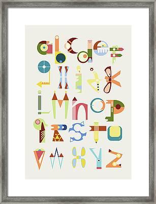 Phantasy Alphabet Framed Print by Elke Vogelsang
