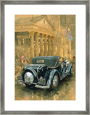 Phantom In The Haymarket  Framed Print by Peter Miller