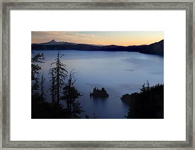 Phantom Ship Sunrise At Crater Lake Framed Print by Pierre Leclerc Photography