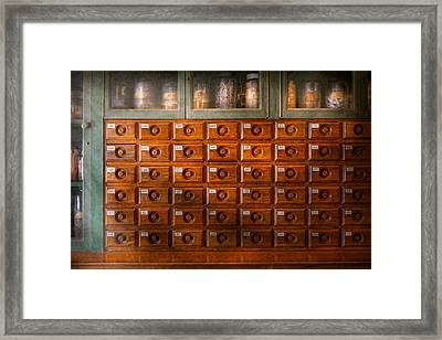 Pharmacy - Chef - It's A Draw Framed Print by Mike Savad