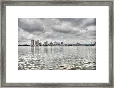Philadelphia Across The Water Framed Print by Jennifer Ancker