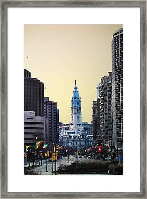 Philadelphia Cityhall At Dawn Framed Print by Bill Cannon