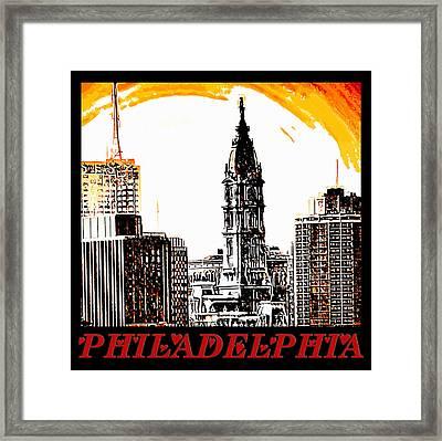 Philadelphia Poster Framed Print by Bill Cannon