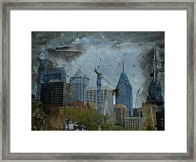 Philadelphia Skyline Framed Print by Mother Nature