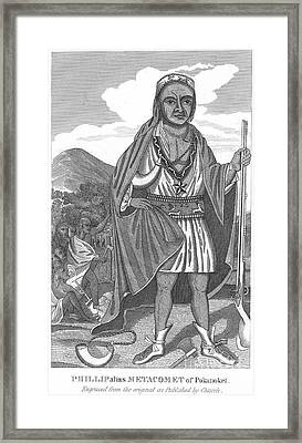 Philip (metacomet) (d.1676) Framed Print by Granger