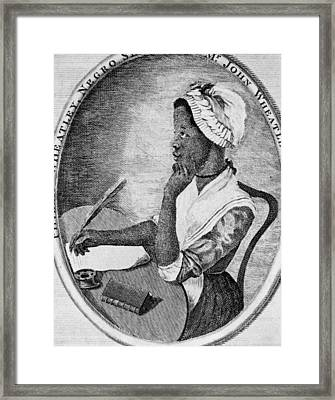 Phillis Wheatley 1753-1784, The First Framed Print by Everett