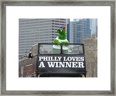 Philly Loves A Winner Framed Print by Alice Gipson