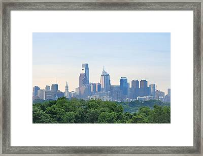 Philly Skyline Framed Print by Bill Cannon