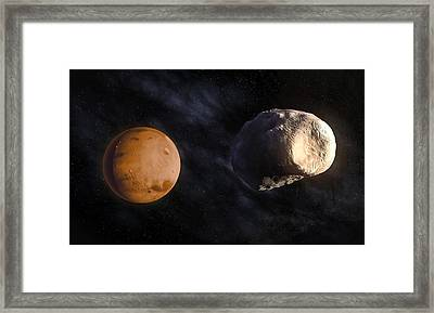 Phobos And Mars, Artwork Framed Print by Andrzej Wojcicki