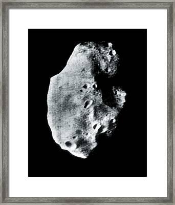 Phobos, Martian Moon, Satellite Image Framed Print by Nasavrs