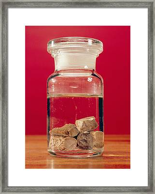 Phosphorus In A Jar Framed Print by Andrew Lambert Photography