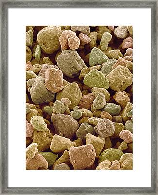 Photocopier Toner Particles, Sem Framed Print by Susumu Nishinaga