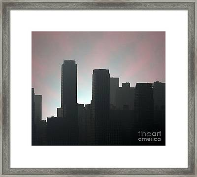 Photograph Of Manhattan In The Morning  Framed Print by Mario Perez