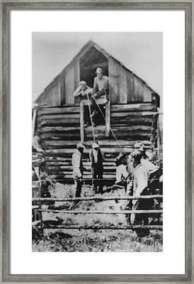 Photographic Postcard Of A Few Men Framed Print by Everett