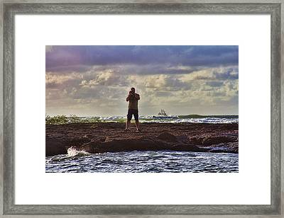 Photographing Seaside Life Framed Print by Douglas Barnard