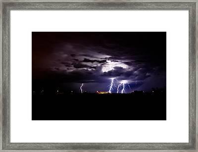 Phx Night Lightning 6 Framed Print by Kenny Jalet