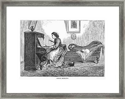 Pianist, 1876 Framed Print by Granger