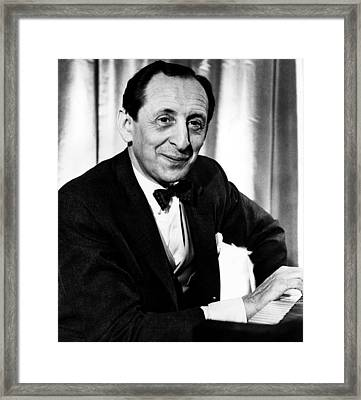 Pianist Vladamir Horowitz Ca.1962 Framed Print by Everett