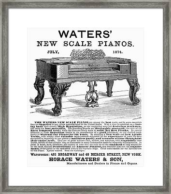 Piano Advertisement, 1874 Framed Print by Granger