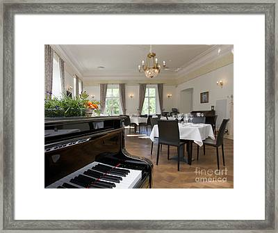 Piano In A Upscale Dining Room Framed Print by Jaak Nilson