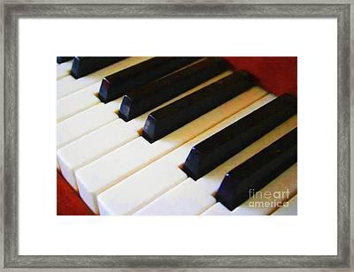 Piano Keys . V2 Framed Print by Wingsdomain Art and Photography