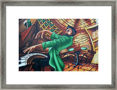 Piano Man 4 Framed Print by Bob Christopher