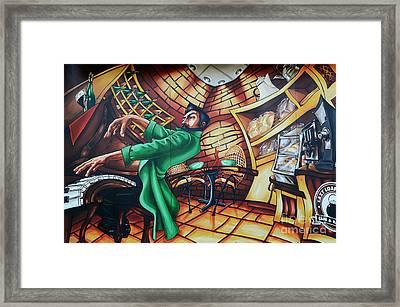 Piano Man Framed Print by Bob Christopher