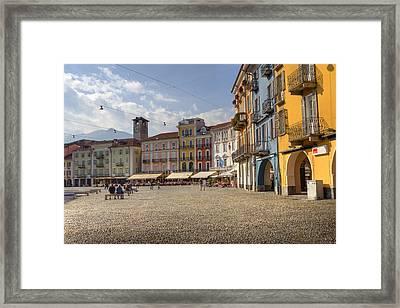 Piazza Grande - Locarno Framed Print by Joana Kruse