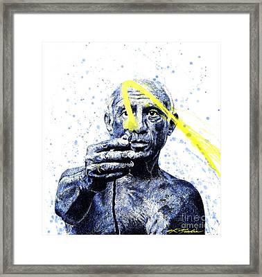 Picasso Framed Print by Chris Mackie