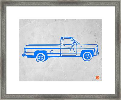 Pick Up Truck Framed Print by Naxart Studio