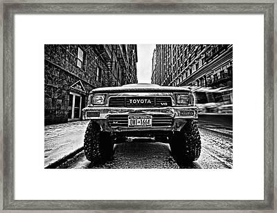 Pick Up Truck On A New York Street Framed Print by John Farnan