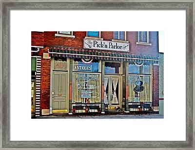 Pick'n Parlor Framed Print by Laurie Winn Adams