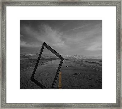 Picturing The Road Ahead Framed Print by JC Photography and Art