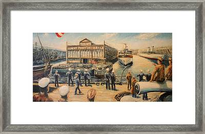Pier 3  The Us Army Transport Service Framed Print by Daniel W Green