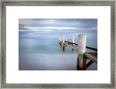 Pier In Pampelonne Beach Framed Print by Dhmig Photography