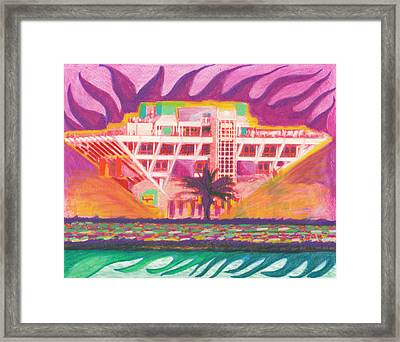 Pier In The Pink Framed Print by Sheree Rensel