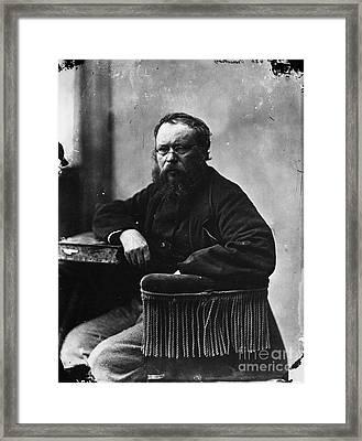 Pierre Joseph Proudhon Framed Print by Granger
