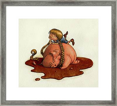 Pig Tales Framed Print by Andy Catling