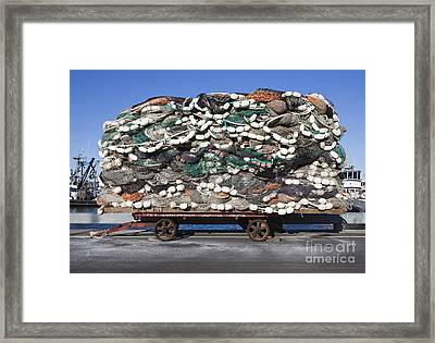 Pile Of Commercial Fishing Nets Framed Print by Paul Edmondson
