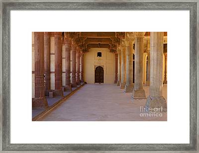 Pillars In Amber Fort Framed Print by Inti St. Clair