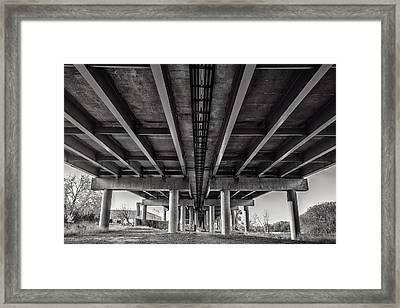 Pillars Of Support Framed Print by CJ Schmit