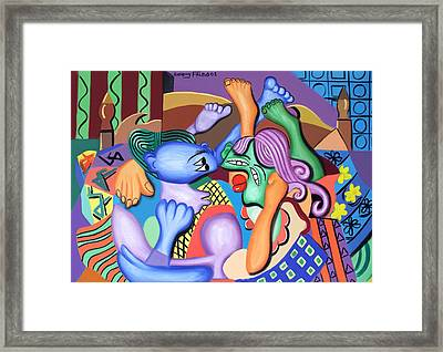Pillow Talk Framed Print by Anthony Falbo