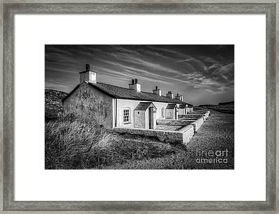 Pilot Cottages Framed Print by Adrian Evans