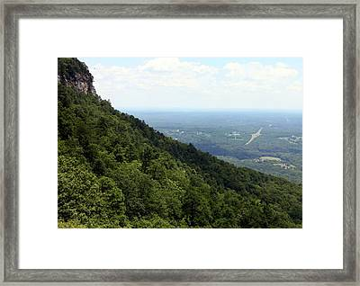 Pilot Mountain Framed Print by Karen Wiles