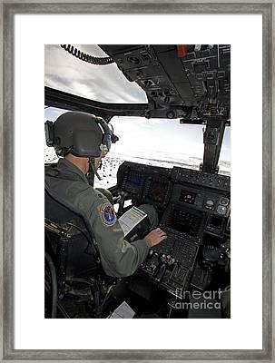 Pilot Of A Cv-22 Osprey Framed Print by HIGH-G Productions