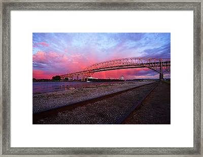 Pink And Blue Framed Print by Gordon Dean II